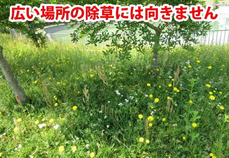 広い場所の除草には向きません