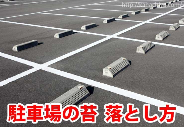 駐車場の苔 落とし方