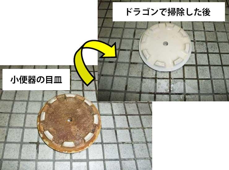 目皿の尿石除去