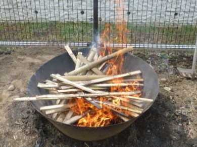 竹を投入する