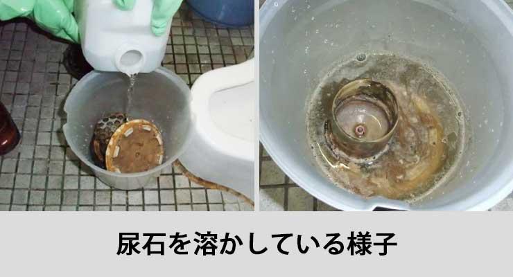 尿石除去の様子