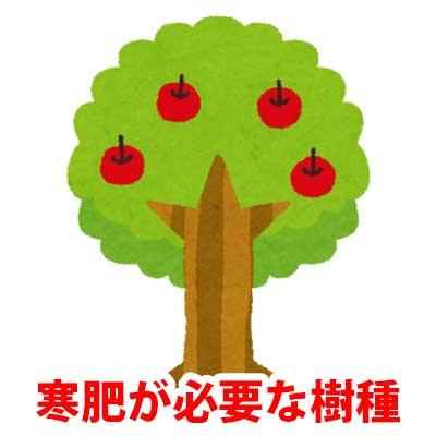 寒肥が必要な樹種